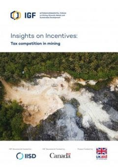 Cover of Insights on Incentives: Tax competition in mining