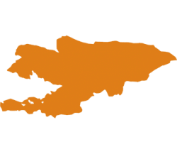 map of Kyrgyz Republic