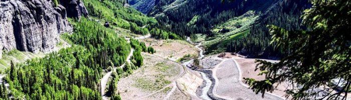 Mine site in valley