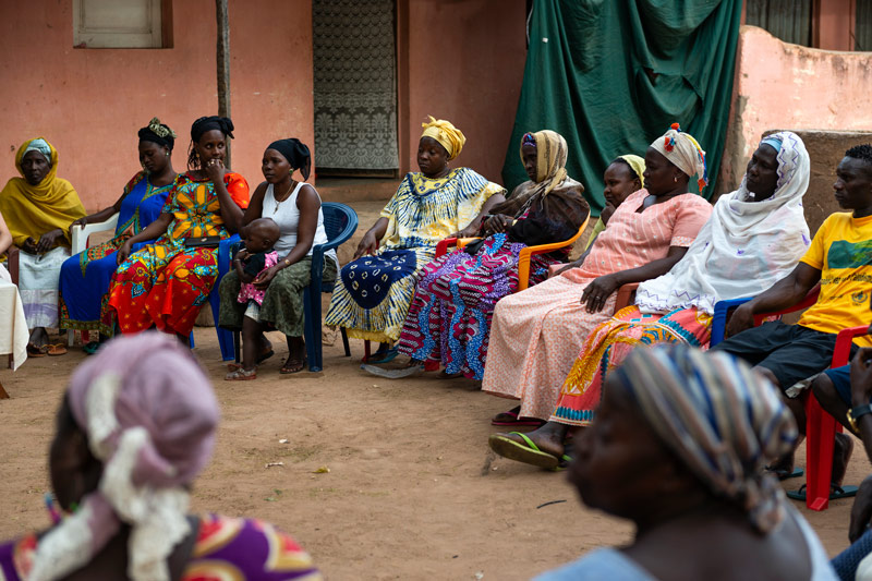 Women at a community meeting in Guinea-Bissau