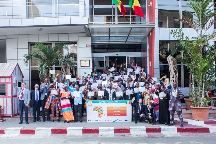 A group photo of participants at an IGF PanAfGeo workshop on ASM.